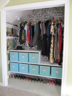 CLOSET---Cubbies for my socks, undies, bras, tanks