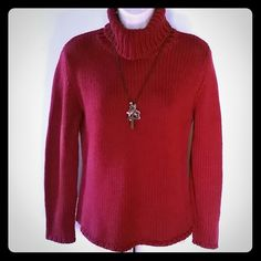 Burgundy  Turtleneck Sweater Turtleneck sweater. Good condition. Harold's  Sweaters Cowl & Turtlenecks
