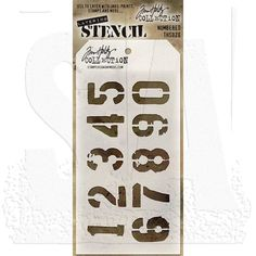 Arrows /& Numbered Number Stencils Tim Holtz Layering Stencil Template 2 Pack