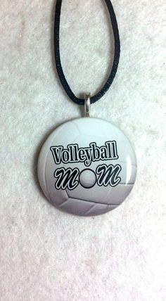 Volleyball Mom Necklace Sports Pendant by sherrollsdesigns on Etsy, $8.00