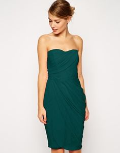 ASOS+Sheer+Drape+Midi+Dress