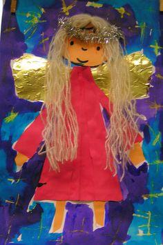 angel Christmas Crafts for Kids Christmas Projects For Kids, Christmas Arts And Crafts, Winter Art Projects, Christmas Activities, Xmas Crafts, Christmas Angels, Winter Christmas, Christmas Trees, Angel Kids