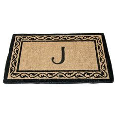 Creel Monogram Doormat. Almost have my porch finished. Still looking for curtains.