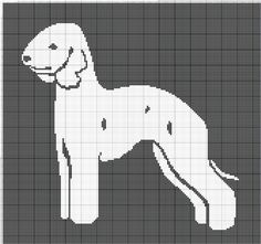 Gallery.ru / Фото #41 - собаки, схемы вышивок из интернета - poodel