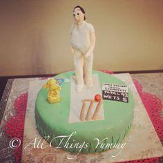 Birthday Cakes for Boys - Green Pitch Cricket Themed Fondant Cake | All Things Yummy#cricket #pitch #field #stumps #wicket #grass #cricketer #bowler #howzzat #cricketball #cap #shoes #allthingsyummy #sports #cake #scoreboard #score #trophy #jersey #indianteam #tendulkar #jerseyten