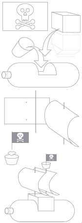 how to make a pirate ship-- wed night project for Ez