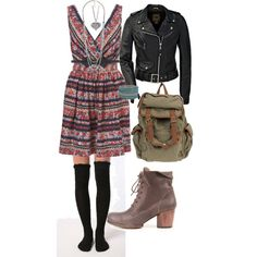 Aria Montgomery, created by edgylaceandleather on Polyvore
