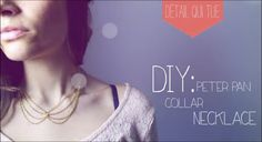 Tutoriel - DIY : Col Claudine en chaine - Peter Pan Necklace (english su