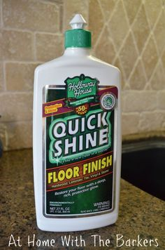 Great way to shine up floors from: at home with the brakers