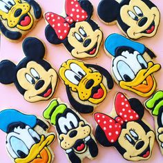 DISNEY Inspired Decorated Sugar Cookies  Mickey Mouse Minnie