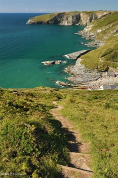 Coast path from Dennis Point to Trebarwith Strand, Cornwall