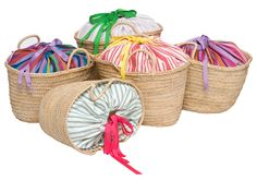Two enchanted little islands off the coast of Ibiza - CABRERA & FORMENTERA - where the only line one might have to worry about is a tan line are the inspiration behind our Ibicenco baskets. Diy Bag Crafts, Unique Purses, Creation Couture, Straw Tote, Basket Bag, Summer Bags, Bag Making, Ibiza, Beach Basket
