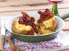 Ofenkartoffeln und leckere Dips - die besten Rezepte - bbq-schnitzel-baked-potatoe  Rezept