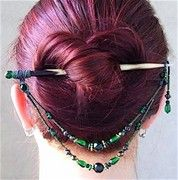 Fancy hair stick - even if you can't find this exact one, this type of thing is awesome!