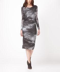 This Charcoal Brushstroke Avery Dress is perfect! #zulilyfinds