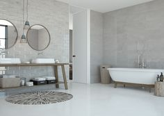 Titanium Pearl and ceramic tiles room shot. Background Tile, Italian Tiles, Tile Manufacturers, Spanish Tile, Encaustic Tile, 3d Texture, Room Tiles, Ceramic Wall Tiles, Contemporary Design