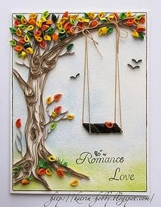 contour-Trees are one of my favorite quilling subjects-beautiful, beautiful tree. Helen P-CreaQuill Arte Quilling, Paper Quilling Patterns, Quilled Paper Art, Quilling Paper Craft, Diy Paper, Paper Crafts, Quilling Ideas, Quilling Comb, Quilling Tutorial