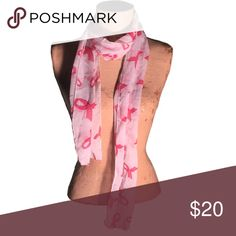 Breast Cancer Pink Ribbon Fashion Scarf Super cute fashion scarf!  Makes a great gift! Raise breast cancer awareness! Accessories Scarves & Wraps