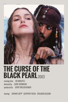 Alternative Minimalist Movie/Show Polaroid Poster - The Curse of the Black Pearl - Iconic Movie Posters, Minimal Movie Posters, Minimal Poster, Cinema Posters, Movie Poster Art, Iconic Movies, Poster Wall, Film Polaroid, Polaroids