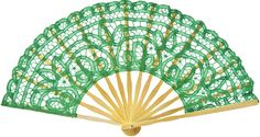 Green Lace Hand Fan