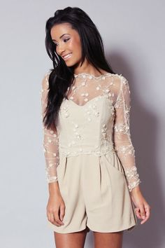really pretty top...maybe a skirt.              Wedding Playsuits | Bridal Rompers | Bridal Musings Wedding Blog 4