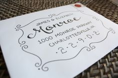 Calligraphy Envelope Custom Addressing Monroe di 5thFloorDesigns, $2.50