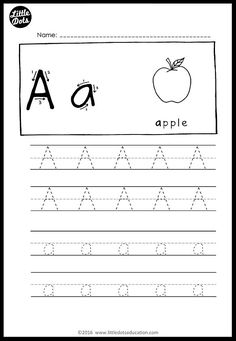 Little dots education free alphabet tracing worksheets alpha Printable Alphabet Worksheets, Alphabet Tracing Worksheets, Tracing Letters, Preschool Printables, Alphabet Activities, Preschool Worksheets, Preschool Alphabet, Alphabet Crafts, Handwriting Worksheets