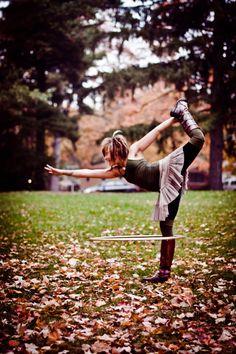 yoga + hooping = ♥!