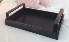 Black antique serving tray from Seacoast Custom Furniture