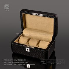 Top Quanlity Leather And Wood Watch Box Fashion Black Color Watch Gift Brand Watch Cases New Watch Storage Box