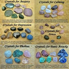 Crystals for Anxiety, Calming, Depression, Stress, Phobias and Panic Attacks