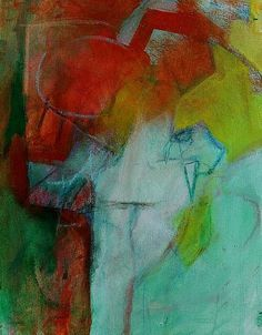 """Abstract Painting on Canvas """"Orange Marmalade"""""""
