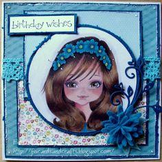 handmade card using Amber from Sugar Nellie @ www.funkykits.co.uk  http://fiscardsandcrafts.blogspot.co.uk