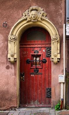 Metz, Moselle, France. What a beauty. #myobsessionwithreddoors