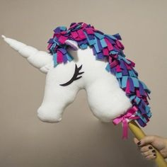 Make this adorable Unicorn hobby-horse for the little princess in your life. PDF download included with pattern.