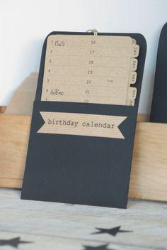 Image of Calendrier des anniversaires noir/kraft blond recyclé