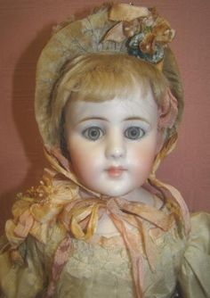 Exquisite Simon Halbig Closed Mouth Child #920, Original Kid Body from dollstx on Ruby Lane