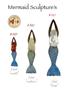 Coastal mermaid sculptures are designed and hand crafted by Daufuskie Island artist, Chase Allen in South Carolina. Visit ironfishart.com to get yours!