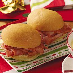 Mini Barbecued Ham Sandwiches