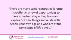 Click here to discover 5 fun activity ideas for seniors in the Toronto area.