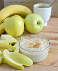 3 Ingredient Healthy Fruit Dip just PB, honey, and greek yogurt - easy and so tasty! from www.blessthismessplease.com