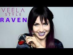 VEELA COSPLAY: Raven Teen Titans belt and makeup, velvet cloak