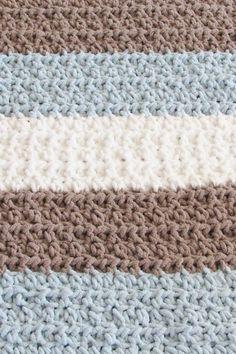 Crochet Baby Blanket Free Pattern, Bernat Baby Blanket, Easy Crochet Blanket, Baby Afghan Crochet, Manta Crochet, Baby Boy Blankets, Afghan Crochet Patterns, Free Crochet, Baby Afghans