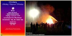 Kerstboomverbranding 2016 in Westdorpe, het warmste dorp van Nederland
