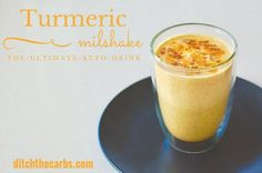 Keto turmeric milkshake - the fat burning drink from The Keto Diet Book. | ditchthecarbs.com