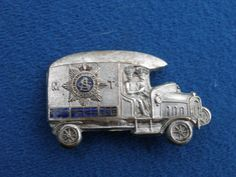 VERY SCARCE WW1 MOTOR TRANSPORT TRUCK ARMY BADGE BROOCH 4CM LONG, SILVER in Collectables, Militaria, World War I (1914-1918) | eBay