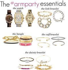 I like the idea of having a party on my wrist.  Nevermind that my wrists are too skinny for basically all bangles and bracelets!