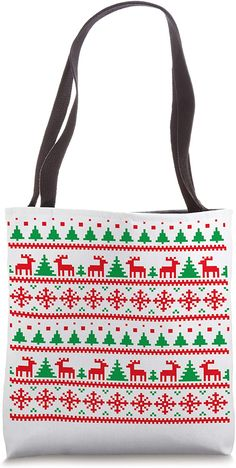 Amazon.com: Ugly Christmas Red white green Tote Bag Christmas Store, After Christmas, Green Christmas, Christmas Shopping, Christmas Day Celebration, Amazon Gifts, Xmas Gifts, Gifts For Family, Being Ugly