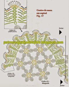 Camino de mesa super original - con patrón | Crochet y dos agujas