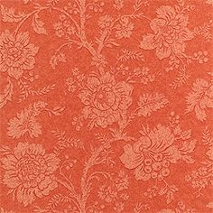 Antonelli Damask #wallpaper in #coral from the Damask Resource 2 collection. #Thibaut